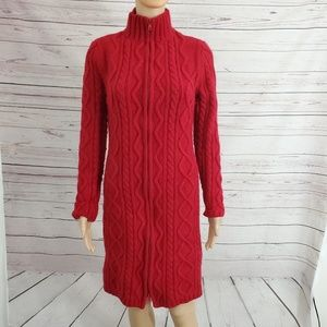 Moda International Wool Blend Sweater Coat L